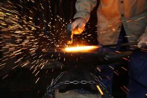 From 'Blacksmithing ' with Bob Rupert http://300mpg.org/blacksmithing-dvds/